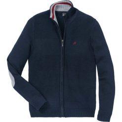 Sweter rozpinany z dzianiny w różne wzory bonprix ciemnoniebieski. Niebieskie kardigany męskie bonprix, z dzianiny. Za 109.99 zł.