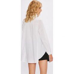 Answear - Koszula Stripes Vibes. Szare koszule damskie ANSWEAR, z dzianiny, casualowe, z klasycznym kołnierzykiem, z długim rękawem. W wyprzedaży za 59.90 zł.
