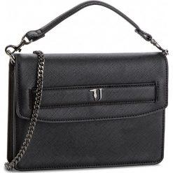 Torebka TRUSSARDI JEANS - Paprica 75B00536 K299. Czarne torebki do ręki damskie TRUSSARDI JEANS, z jeansu. W wyprzedaży za 339.00 zł.
