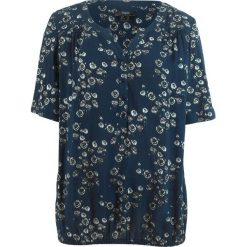 Tunika, krótki rękaw bonprix ciemnoniebieski w kwiaty. Niebieskie tuniki damskie bonprix, w kwiaty, z krótkim rękawem. Za 69.99 zł.