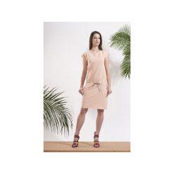 Sukienka Tropical Peach. Brązowe sukienki damskie Afriq password, z bawełny. Za 179.00 zł.