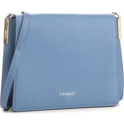 Torebka TWINSET - Tracolla Grande AA8PGC Azzurro 01797. Niebieskie listonoszki damskie Twinset, ze skóry. W wyprzedaży za 1,009.00 zł.