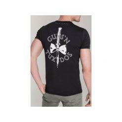 T-SHIRT KNIFE 2. Czarne t-shirty męskie Guns&tuxedos, z klasycznym kołnierzykiem. Za 219.00 zł.