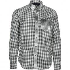 """Koszula """"Gingham"""" - Regular fit - w kolorze biało-czarnym. Białe koszule męskie Ben Sherman, w kratkę, z bawełny, button down. W wyprzedaży za 130.95 zł."""