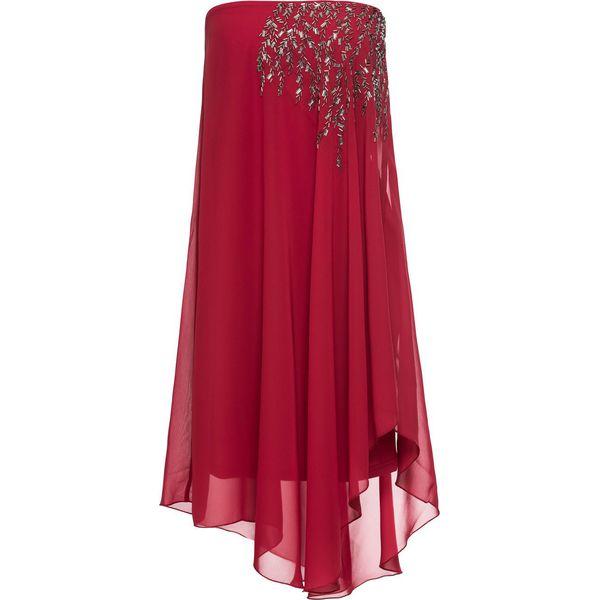 e15869845f Sukienka na jedno ramię bonprix ciemnoczerwony - Czerwone sukienki ...