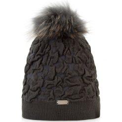 Czapka damska 87-HF-018-8. Czarne czapki i kapelusze damskie Wittchen, z dzianiny. Za 139.00 zł.