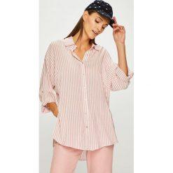 Trendyol - Koszula. Szare koszule damskie Trendyol, w paski, z tkaniny, casualowe, z klasycznym kołnierzykiem, z długim rękawem. W wyprzedaży za 69.90 zł.