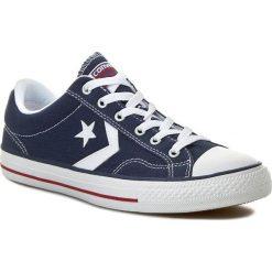 Trampki CONVERSE - Star Player Ox 144150C  Navy/WHite. Niebieskie trampki męskie Converse, z gumy. W wyprzedaży za 209.00 zł.