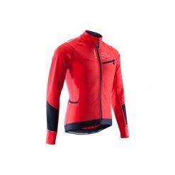 Kurtka zimowa na rower szosowy ROADRACING 500 męska. Czerwone kurtki męskie B'TWIN, na zimę, z elastanu. Za 169.99 zł.