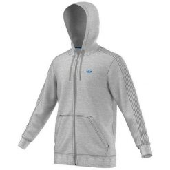 Adidas Bluza męska Classic Trefoil Hoodie szara r. S (AJ7698). Bluzy męskie marki KALENJI. Za 181.54 zł.