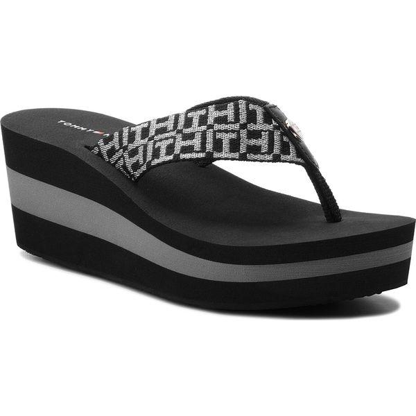 c1f22d570d354 Japonki TOMMY HILFIGER - Metallic Mid Beach Sandal FW0FW02363 Black ...