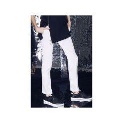 Spodnie tkaninowe prosto-kanciaste - białe. Eleganckie spodnie męskie marki Giacomo Conti. Za 299.00 zł.