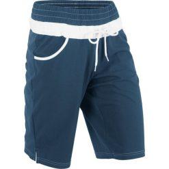 Szorty dresowe bonprix ciemnoniebieski. Niebieskie spodnie dresowe damskie bonprix, z dresówki. Za 44.99 zł.