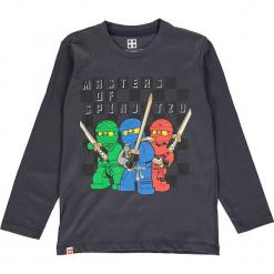 Koszulka w kolorze antracytowym. Zielone t-shirty dla chłopców marki Lego Wear Fashion, z bawełny, z długim rękawem. W wyprzedaży za 35.95 zł.