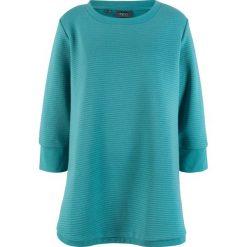 Długa bluza dresowa w strukturalny wzór w poziomy prążek bonprix matowy kobaltowy. Bluzy damskie marki KALENJI. Za 79.99 zł.