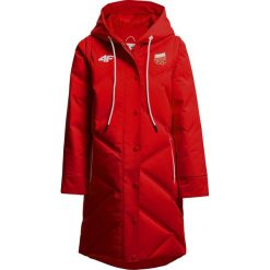 Płaszcz puchowy 2w1 męski Polska Pyeongchang 2018 KUM902R - czerwony wiśniowy. Czerwone płaszcze damskie 4f, na zimę, z napisami, z materiału. Za 1,499.90 zł.