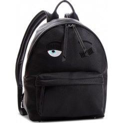Plecak CHIARA FERRAGNI - 18AI-CFZ001 Nero. Czarne plecaki damskie Chiara Ferragni, ze skóry ekologicznej. Za 1,829.00 zł.