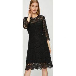 Liu Jo - Sukienka. Czarne sukienki damskie Liu Jo, z bawełny, casualowe, z okrągłym kołnierzem. Za 699.90 zł.
