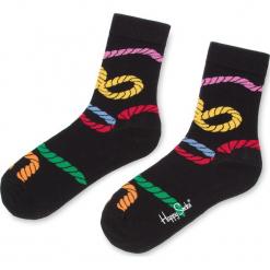 Skarpety Wysokie Unisex HAPPY SOCKS - RPE01-9000 Czarny Kolorowy. Czarne skarpety męskie Happy Socks, w kolorowe wzory, z bawełny. Za 34.90 zł.