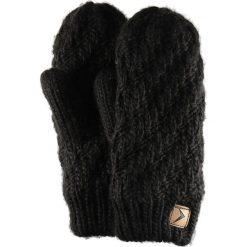 Rękawiczki damskie REU608 - głęboka czerń - Outhorn. Czarne rękawiczki damskie Outhorn, ze splotem. Za 34.99 zł.