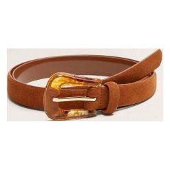 Mango - Pasek Cowboy. Brązowe paski damskie Mango, w paski, z materiału. Za 59.90 zł.