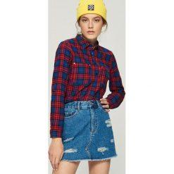 Bawełniana koszula w kratkę - Niebieski. Niebieskie koszule damskie Sinsay, w kratkę, z bawełny. Za 49.99 zł.