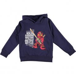 """Bluza """"Sebastian 715"""" w kolorze granatowym. Niebieskie bluzy dla chłopców marki Lego Wear Fashion, z nadrukiem, prążkowane. W wyprzedaży za 92.95 zł."""