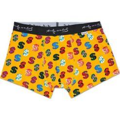 Happy Socks - Bokserki Andy Warhol Dollar. Pomarańczowe bokserki męskie Happy Socks, z bawełny. W wyprzedaży za 79.90 zł.