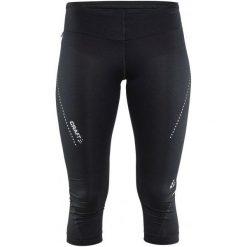 Craft Spodnie Essential Capri Black Xs. Czarne spodnie sportowe damskie Craft, z nadrukiem, z materiału. W wyprzedaży za 159.00 zł.