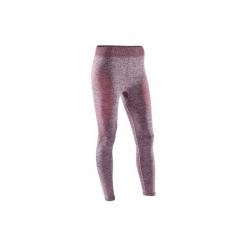 Legginsy do jogi 7/8 Yoga damskie. Czerwone legginsy damskie DOMYOS, z elastanu. Za 64.99 zł.