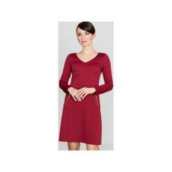 Sukienka K078 Bordo. Czerwone sukienki damskie Lenitif. Za 119.00 zł.