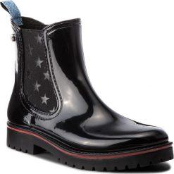 Kalosze TRUSSARDI JEANS - 79A00285 K299. Czarne kozaki damskie TRUSSARDI JEANS, z jeansu. Za 469.00 zł.