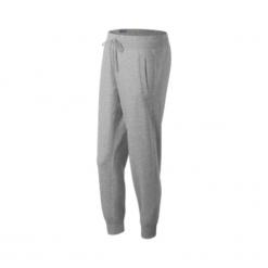 New Balance WP63553AG. Szare spodnie dresowe damskie New Balance, z bawełny. W wyprzedaży za 129.99 zł.