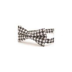 Mucha Pepitka. Białe krawaty i muchy Edyta kleist, w paski, z tkaniny, eleganckie. Za 99.00 zł.