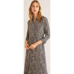 Mango - Sukienka Fast2. Szare sukienki damskie Mango, z tkaniny, casualowe. Za 229.90 zł.