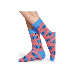 Skarpetki Happy Socks X The Beatles BEA01-3000. Różowe skarpety męskie Happy Socks, z bawełny. Za 30.00 zł.
