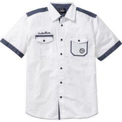 Koszula z krótkim rękawem bonprix biały. Koszule męskie marki Giacomo Conti. Za 89.99 zł.