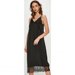 Vero Moda - Sukienka. Brązowe sukienki damskie Vero Moda, z koronki, casualowe, na ramiączkach. Za 169.90 zł.