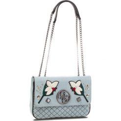 Torebka GUESS - HWDF69 99200 BDM. Niebieskie torebki do ręki damskie Guess, z materiału. W wyprzedaży za 409.00 zł.