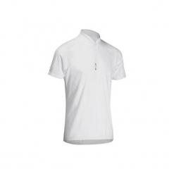 Koszulka krótki rękaw na rower ROADC 100 męska. Białe koszulki sportowe męskie B'TWIN, z materiału, z krótkim rękawem. Za 29.99 zł.
