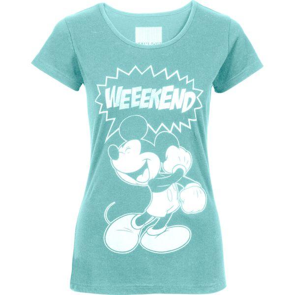 1abfa4c4c84938 Shirt z nadrukiem Myszki Miki bonprix morski pastelowy - Niebieskie ...
