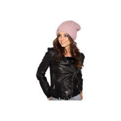 Czapka zimowa o grubym splocie LC105. Czarne czapki i kapelusze damskie Lemoniade, ze splotem. Za 69.90 zł.