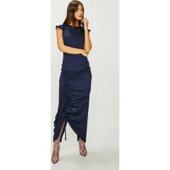 Answear - Sukienka Nomad. Szare sukienki damskie ANSWEAR, z poliesteru, casualowe, z okrągłym kołnierzem. W wyprzedaży za 114.90 zł.