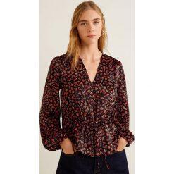 Mango - Bluzka Camelio. Brązowe bluzki damskie Mango, z materiału, casualowe, z krótkim rękawem. Za 139.90 zł.