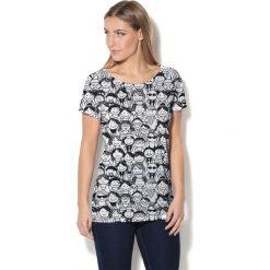 Colour Pleasure Koszulka CP-034 137 biało-czarna r. XS/S. T-shirty damskie Colour Pleasure. Za 70.35 zł.