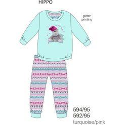 Piżama dziewczęca DR 594/95 Hippo Turkusowa r. 116. Niebieskie bielizna dla chłopców Cornette. Za 49.87 zł.