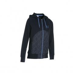 Bluza jeździecka SW500 damska. Niebieskie bluzy damskie FOUGANZA, z bawełny. Za 99.99 zł.