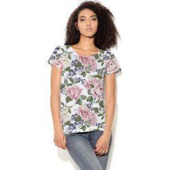 Colour Pleasure Koszulka CP-034  104 biało-zielono-pudrowy róż r. M/L. Bluzki damskie Colour Pleasure. Za 70.35 zł.