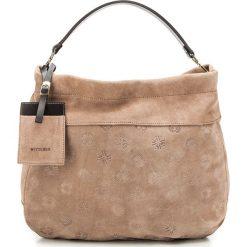 Torebka damska 85-4E-009-5. Brązowe torebki do ręki damskie Wittchen, w paski. Za 629.00 zł.