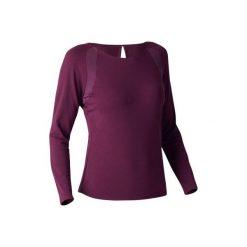 Koszulka długi rękaw Gym & Pilates 900 damska. Fioletowe koszulki sportowe damskie DOMYOS, z długim rękawem. W wyprzedaży za 69.99 zł.